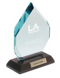 Jewel Award with Piano Wood Base