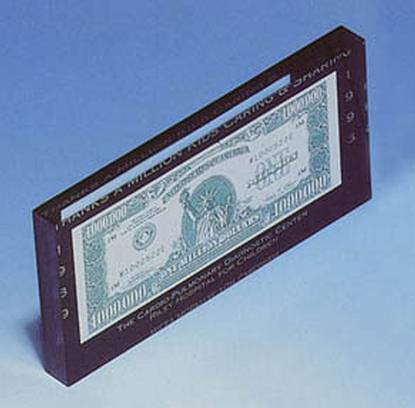 dollar bill entrapments acrylic currency sandwich bill holders acrylic currency paperweights - Dollar Picture Frames