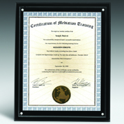 "Magnetic Certificate Holder - Clear on Black - 8"" x 10"" Insert"