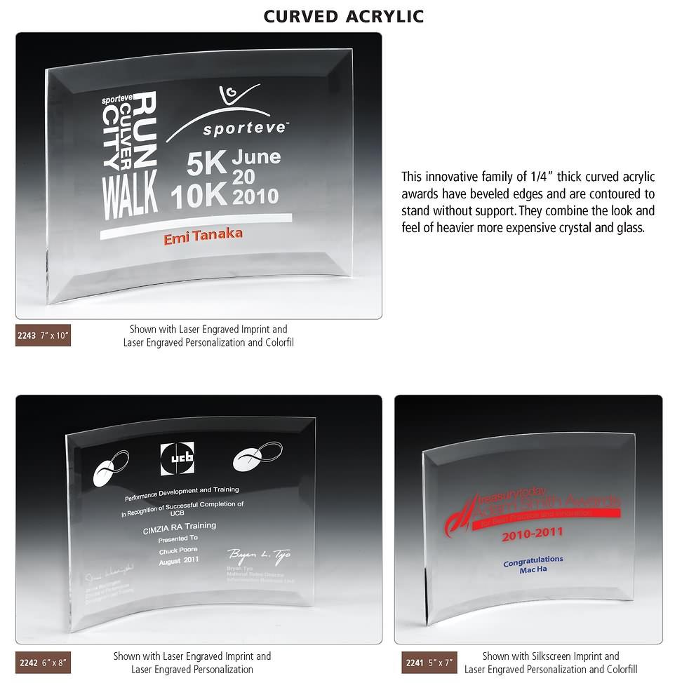 ACRYLIC CURVED PLAQUES: Acrylic Curved Plaques, Curved Acrylic ...