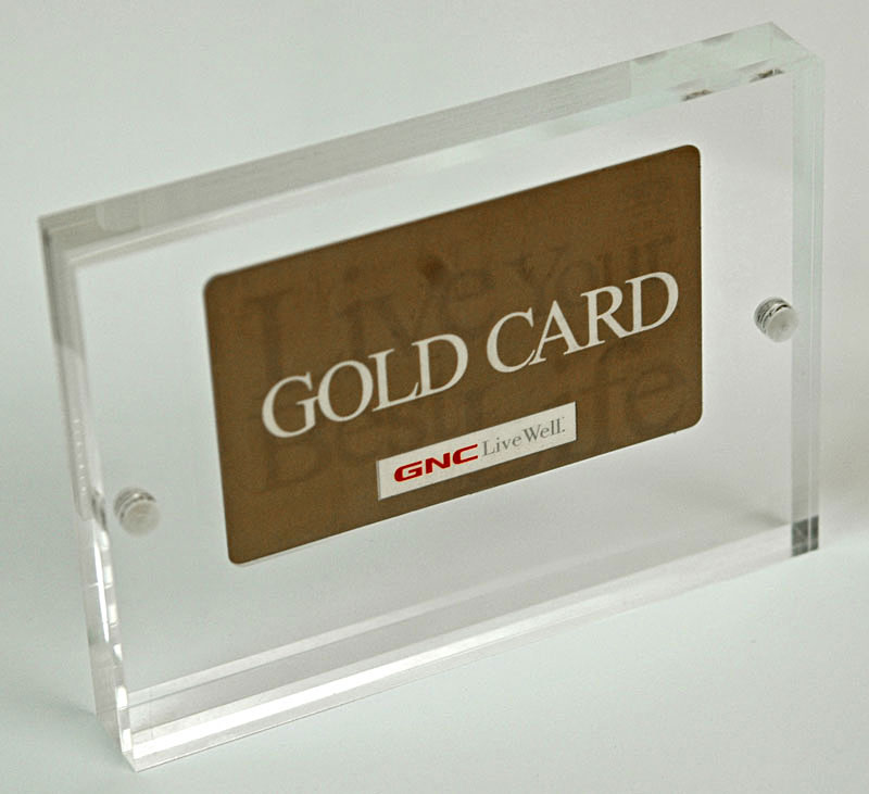 Credit Card Entrapments Acrylic Credit Card Awards