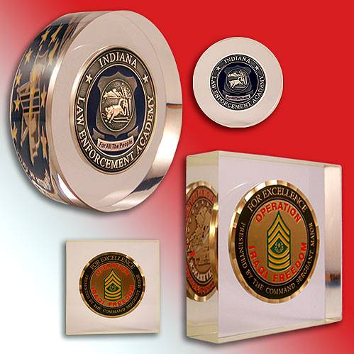 Item Nf5226 Coin In Lucite Embedment Challenge Coins