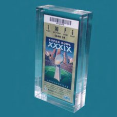 Acrylic Sports Ticket Holder Lucite Ticket Entrapments
